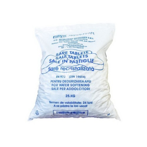 Tablete/Pastile de sare recristalizata pentru dedurizarea apei