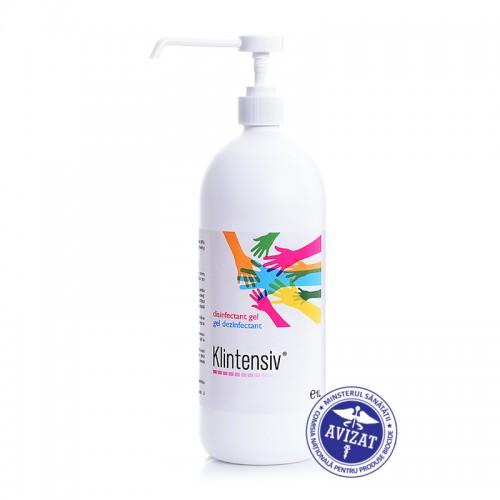 Klintensiv - Gel dezinfectant pentru maini - 85% alcool 1 L