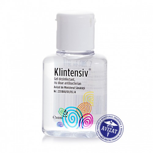 Klintensiv - Gel dezinfectant pentru maini - 85% alcool 40 ml